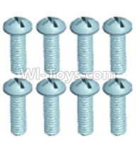 Wltoys 12402 Car Parts-0245 Pan head screws(8PCS)-M2.5X6,Wltoys 12402 RC Car Spare Parts Replacement Accessories,1:12 Scale 4wd,2.4G 12402 rc racing car Parts,On Road Drift Racing Truck Car Parts