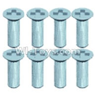 Wltoys 12402 Car Parts-0246 Countersunk head screws(8PCS)-M2.5X6,Wltoys 12402 RC Car Spare Parts Replacement Accessories,1:12 Scale 4wd,2.4G 12402 rc racing car Parts,On Road Drift Racing Truck Car Parts