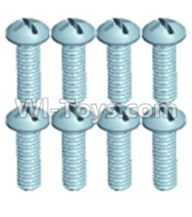 Wltoys 12402 Car Parts-0250 Pan head screws(8PCS)-M2.6X8,Wltoys 12402 RC Car Spare Parts Replacement Accessories,1:12 Scale 4wd,2.4G 12402 rc racing car Parts,On Road Drift Racing Truck Car Parts