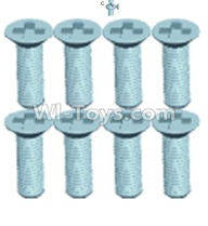 Wltoys 12402 Car Parts-0251 Countersunk head screws(8PCS)-M2.6X8,Wltoys 12402 RC Car Spare Parts Replacement Accessories,1:12 Scale 4wd,2.4G 12402 rc racing car Parts,On Road Drift Racing Truck Car Parts