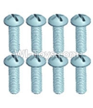 Wltoys 12402 Car Parts-0254 Pan head screws(8PCS)-M3X10,Wltoys 12402 RC Car Spare Parts Replacement Accessories,1:12 Scale 4wd,2.4G 12402 rc racing car Parts,On Road Drift Racing Truck Car Parts