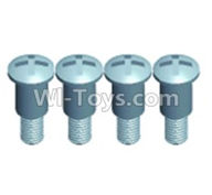 Wltoys 12402 Car Parts-0275 Pan head Half tooth screws(4PCS)-M3X10-Bottom tooth lehgth 5mm,Wltoys 12402 RC Car Spare Parts Replacement Accessories,1:12 Scale 4wd,2.4G 12402 rc racing car Parts,On Road Drift Racing Truck Car Parts
