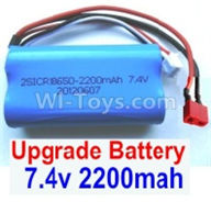 Wltoys 12403 Parts-Upgrade Battery,7.4V 2200MAH Battery With T-Shape Plug(1pcs)-Size-65X38X18mm,Wltoys 12403 RC Car Spare Parts Replacement Accessories,1:12 Scale 4wd,2.4G 12403 rc racing car Parts,On Road Drift Racing Truck Car Parts