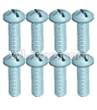 Wltoys 12403 Parts-Pan head screws(8PCS)-M2.6X8,Wltoys 12403 RC Car Spare Parts Replacement Accessories,1:12 Scale 4wd,2.4G 12403 rc racing car Parts,On Road Drift Racing Truck Car Parts