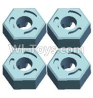 Wltoys 12404 Parts-Hexagonal round seat(4pcs),Wltoys 12404 RC Car Spare Parts Replacement Accessories,1:12 Scale 4wd,2.4G 12404 rc racing car Parts,On Road Drift Racing Truck Car Parts