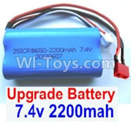 Wltoys 12404 Parts-Upgrade 7.4V 2200MAH Battery With T-Shape Plug(1pcs)-Size-65X38X18mm,Wltoys 12404 RC Car Spare Parts Replacement Accessories,1:12 Scale 4wd,2.4G 12404 rc racing car Parts,On Road Drift Racing Truck Car Parts