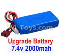 Wltoys 12404 Parts-Upgrade 7.4V 2000mah Battery(1pcs)-Size-80X35X19MM,Wltoys 12404 RC Car Spare Parts Replacement Accessories,1:12 Scale 4wd,2.4G 12404 rc racing car Parts,On Road Drift Racing Truck Car Parts