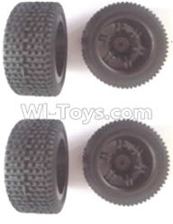 Wltoys 12404 Front and Rear wheel unit(Total 4pcs)