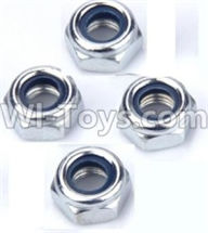 Wltoys 12404 Parts-M4 Locknut(4pcs),Wltoys 12404 RC Car Spare Parts Replacement Accessories,1:12 Scale 4wd,2.4G 12404 rc racing car Parts,On Road Drift Racing Truck Car Parts