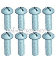 Wltoys 12404 Parts-Pan head screws(8PCS)-M2.5X6,Wltoys 12404 RC Car Spare Parts Replacement Accessories,1:12 Scale 4wd,2.4G 12404 rc racing car Parts,On Road Drift Racing Truck Car Parts