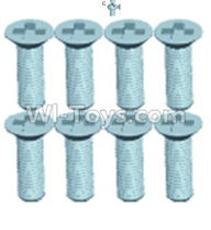 Wltoys 12404 Parts-Countersunk head screws(8PCS)-M2.6X8,Wltoys 12404 RC Car Spare Parts Replacement Accessories,1:12 Scale 4wd,2.4G 12404 rc racing car Parts,On Road Drift Racing Truck Car Parts