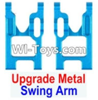 Wltoys 12423 Car Spare Parts-0004-02 Upgrade Metal Left and Right Swing Arm(2pcs),Wltoys 12423 RC Car Spare Parts Replacement Accessories,1:12 Scale 4wd,2.4G 12423 RC racing car Parts,On Road Drift Racing Truck Car Parts