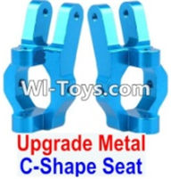 Wltoys 12423 Car Spare Parts-0006-02 Upgrade Metal C-Shape Seat(2pcs)-Blue,Wltoys 12423 RC Car Spare Parts Replacement Accessories,1:12 Scale 4wd,2.4G 12423 RC racing car Parts,On Road Drift Racing Truck Car Parts