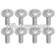 Wltoys 12423 Car Spare Parts-00100 Pan head screws with cross media(8PCS)-M2X8 PMW,Wltoys 12423 RC Car Spare Parts Replacement Accessories,1:12 Scale 4wd,2.4G 12423 RC racing car Parts,On Road Drift Racing Truck Car Parts
