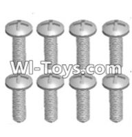 Wltoys 12423 Car Spare Parts-00101 Cross recessed pan head screws(8PCS)-M2.5X8 PM,Wltoys 12423 RC Car Spare Parts Replacement Accessories,1:12 Scale 4wd,2.4G 12423 RC racing car Parts,On Road Drift Racing Truck Car Parts