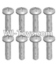 Wltoys 12423 Car Spare Parts-00102 Cross recessed pan head screws(8PCS)-M2.5X10 PM,Wltoys 12423 RC Car Spare Parts Replacement Accessories,1:12 Scale 4wd,2.4G 12423 RC racing car Parts,On Road Drift Racing Truck Car Parts
