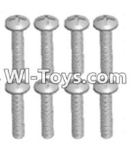 Wltoys 12423 Car Spare Parts-00103 Cross recessed pan head screws(8PCS)-M2.5X12 PM,Wltoys 12423 RC Car Spare Parts Replacement Accessories,1:12 Scale 4wd,2.4G 12423 RC racing car Parts,On Road Drift Racing Truck Car Parts