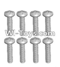 Wltoys 12423 Car Spare Parts-00104 Cross recessed pan head screws(8PCS)-M2.5X14 PM,Wltoys 12423 RC Car Spare Parts Replacement Accessories,1:12 Scale 4wd,2.4G 12423 RC racing car Parts,On Road Drift Racing Truck Car Parts