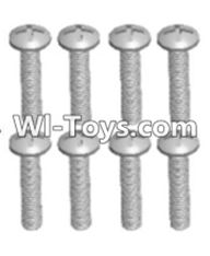 Wltoys 12423 Car Spare Parts-00105 Cross recessed pan head screws(8PCS)-M2.5X16 PM,Wltoys 12423 RC Car Spare Parts Replacement Accessories,1:12 Scale 4wd,2.4G 12423 RC racing car Parts,On Road Drift Racing Truck Car Parts
