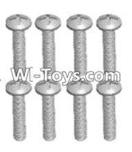 Wltoys 12423 Car Spare Parts-00106 Cross recessed pan head screws(8PCS)-M2.5X20 PM,Wltoys 12423 RC Car Spare Parts Replacement Accessories,1:12 Scale 4wd,2.4G 12423 RC racing car Parts,On Road Drift Racing Truck Car Parts