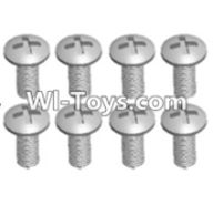 Wltoys 12423 Car Spare Parts-00107 Cross recessed pan head screws(8PCS)-M4X12 PM,Wltoys 12423 RC Car Spare Parts Replacement Accessories,1:12 Scale 4wd,2.4G 12423 RC racing car Parts,On Road Drift Racing Truck Car Parts