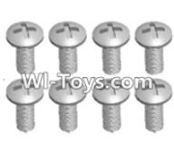 Wltoys 12423 Car Spare Parts-00108 Cross recessed pan head screws(8PCS)-M3X7 PM,Wltoys 12423 RC Car Spare Parts Replacement Accessories,1:12 Scale 4wd,2.4G 12423 RC racing car Parts,On Road Drift Racing Truck Car Parts