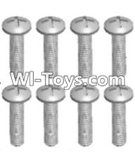 Wltoys 12423 Car Spare Parts-00110 Cross recessed pan head screws(8PCS)-M2X10 PM,Wltoys 12423 RC Car Spare Parts Replacement Accessories,1:12 Scale 4wd,2.4G 12423 RC racing car Parts,On Road Drift Racing Truck Car Parts