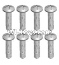 Wltoys 12423 Car Spare Parts-00111 Cross recessed pan head screws(8PCS)-M2X12 PM,Wltoys 12423 RC Car Spare Parts Replacement Accessories,1:12 Scale 4wd,2.4G 12423 RC racing car Parts,On Road Drift Racing Truck Car Parts