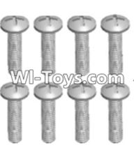 Wltoys 12423 Car Spare Parts-00112 Cross recessed pan head screws(8PCS)-M2X20 PM,Wltoys 12423 RC Car Spare Parts Replacement Accessories,1:12 Scale 4wd,2.4G 12423 RC racing car Parts,On Road Drift Racing Truck Car Parts