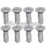 Wltoys 12423 Car Spare Parts-00113 Cross recessed Flat head screws(8PCS)-M2.5X6 KM,Wltoys 12423 RC Car Spare Parts Replacement Accessories,1:12 Scale 4wd,2.4G 12423 RC racing car Parts,On Road Drift Racing Truck Car Parts