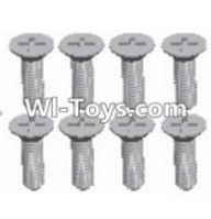 Wltoys 12423 Car Spare Parts-00115 Cross recessed Flat head screws(8PCS)-M2.5X10 KM,Wltoys 12423 RC Car Spare Parts Replacement Accessories,1:12 Scale 4wd,2.4G 12423 RC racing car Parts,On Road Drift Racing Truck Car Parts