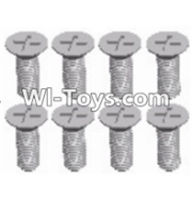 Wltoys 12423 Car Spare Parts-00117 Cross recessed Flat head screws(8PCS)-M3X8 KM,Wltoys 12423 RC Car Spare Parts Replacement Accessories,1:12 Scale 4wd,2.4G 12423 RC racing car Parts,On Road Drift Racing Truck Car Parts
