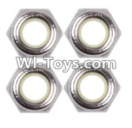 Wltoys 12423 Car Spare Parts-00118 M2.5 Anti loose nut(4PCS),Wltoys 12423 RC Car Spare Parts Replacement Accessories,1:12 Scale 4wd,2.4G 12423 RC racing car Parts,On Road Drift Racing Truck Car Parts