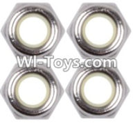 Wltoys 12423 Car Spare Parts-00119 M4 Anti loose nut(4PCS),Wltoys 12423 RC Car Spare Parts Replacement Accessories,1:12 Scale 4wd,2.4G 12423 RC racing car Parts,On Road Drift Racing Truck Car Parts