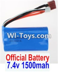 Wltoys 12423 Car Spare Parts-00123-01 Official 7.4V 1500MAH 15C 18650 Battery(1pcs),Wltoys 12423 RC Car Spare Parts Replacement Accessories,1:12 Scale 4wd,2.4G 12423 RC racing car Parts,On Road Drift Racing Truck Car Parts