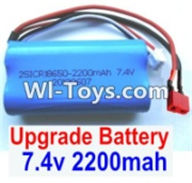 Wltoys 12423 Car Spare Parts-00123-02 Upgrade 7.4V 2200MAH Battery 15C With T-Shape Plug(1pcs)-Size-65X38X18mm,Wltoys 12423 RC Car Spare Parts Replacement Accessories,1:12 Scale 4wd,2.4G 12423 RC racing car Parts,On Road Drift Racing Truck Car Parts