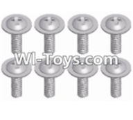 Wltoys 12423 Car Spare Parts-00125 Pan head screws with cross media(8pcs)-M2.5X8 PWM,Wltoys 12423 RC Car Spare Parts Replacement Accessories,1:12 Scale 4wd,2.4G 12423 RC racing car Parts,On Road Drift Racing Truck Car Parts