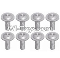 Wltoys 12423 Car Spare Parts-00129 Pan head screws with cross media(8PCS)-M2.3X8,Wltoys 12423 RC Car Spare Parts Replacement Accessories,1:12 Scale 4wd,2.4G 12423 RC racing car Parts,On Road Drift Racing Truck Car Parts