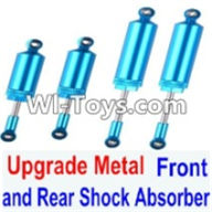 Wltoys 12423 Car Spare Parts-0017-03 Upgrade Metal Front and Rear Shock Absorber(Total 4pcs),Wltoys 12423 RC Car Spare Parts Replacement Accessories,1:12 Scale 4wd,2.4G 12423 RC racing car Parts,On Road Drift Racing Truck Car Parts
