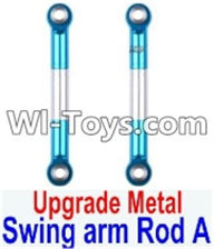 Wltoys 12423 Car Spare Parts-0020-02 Upgrade Metal Swing arm Rod A(2pcs),Wltoys 12423 RC Car Spare Parts Replacement Accessories,1:12 Scale 4wd,2.4G 12423 RC racing car Parts,On Road Drift Racing Truck Car Parts