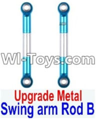 Wltoys 12423 Car Spare Parts-0021-02 Upgrade Metal Swing arm Rod B(2pcs),Wltoys 12423 RC Car Spare Parts Replacement Accessories,1:12 Scale 4wd,2.4G 12423 RC racing car Parts,On Road Drift Racing Truck Car Parts