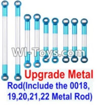 Wltoys 12423 Car Spare Parts-0022-03 Upgrade Metal Rod(Include the 0018,19,20,21,22 Metal Rod)-9pcs,Wltoys 12423 RC Car Spare Parts Replacement Accessories,1:12 Scale 4wd,2.4G 12423 RC racing car Parts,On Road Drift Racing Truck Car Parts