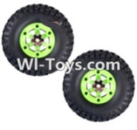 Wltoys 12423 Car Spare Parts-0070 Whole Left Wheel unit(Include the Wheel,Trie leather,upper and bottom wheel cover)-2pcs,Wltoys 12423 RC Car Spare Parts Replacement Accessories,1:12 Scale 4wd,2.4G 12423 RC racing car Parts,On Road Drift Racing Truck Car