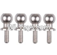 Wltoys 12423 Car Spare Parts-0074 Ball head screw(M4.8X11.5)-4PCS,Wltoys 12423 RC Car Spare Parts Replacement Accessories,1:12 Scale 4wd,2.4G 12423 RC racing car Parts,On Road Drift Racing Truck Car Parts