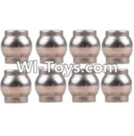 Wltoys 12423 Car Spare Parts-0075 Ball head C(M4.8x5)-8pcs,Wltoys 12423 RC Car Spare Parts Replacement Accessories,1:12 Scale 4wd,2.4G 12423 RC racing car Parts,On Road Drift Racing Truck Car Parts