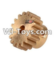 Wltoys 12423 Car Spare Parts-0088 17T Motor Gear(15.2X10MM),Wltoys 12423 RC Car Spare Parts Replacement Accessories,1:12 Scale 4wd,2.4G 12423 RC racing car Parts,On Road Drift Racing Truck Car Parts