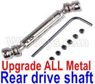 Wltoys 12428 Parts Upgrade Metal Rear drive shaft assembly, Silver Color. 12428.0477 +12428.0476.