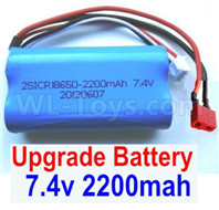 Wltoys 12427 Upgrade Battery Parts-Upgrade 7.4V 2200mah Battery With T-Shape Plug(1pcs)-12427-00123-Size-65X38X18mm-
