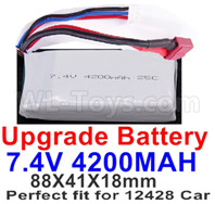 Wltoys 12427 Upgrade Battery-Upgrade 7.4V 4200mah Batteries-Size-88X41X18mm