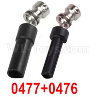 Wltoys 12427 Parts-Rear drive shaft + Rear Drive Sleeve-12427-0477+0476,Total 2 set